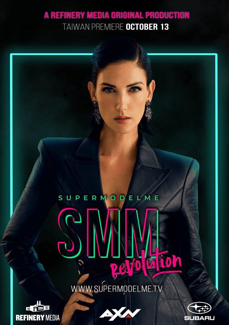 超模辛蒂畢夏Cindy Bishop擔綱「SupermodelMe」主持大樑。圖...
