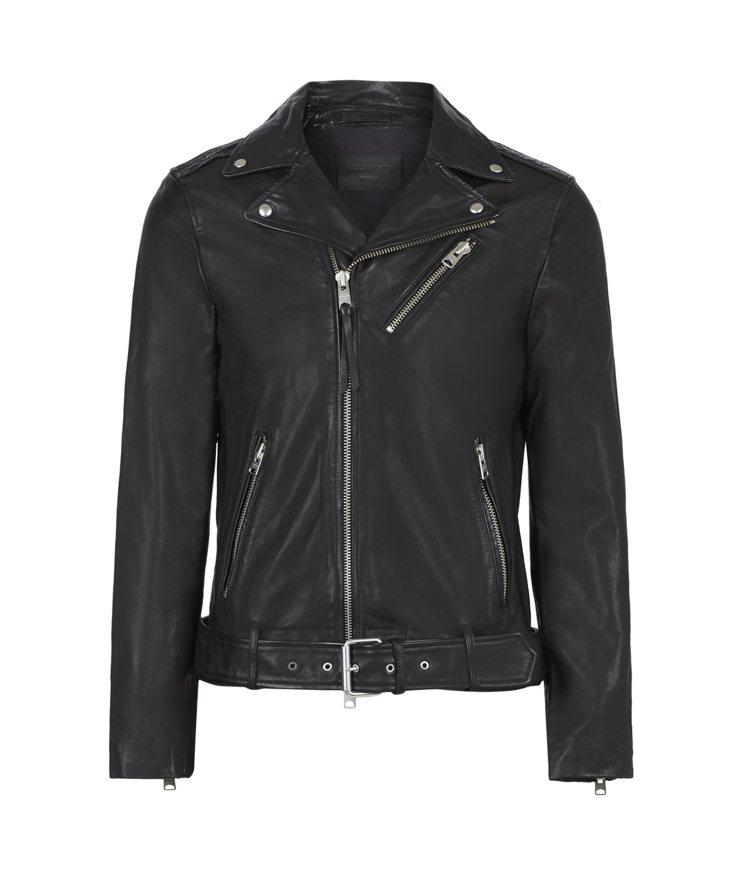 AllSaints Rigg騎士皮衣20,200元。圖/AllSaints提供