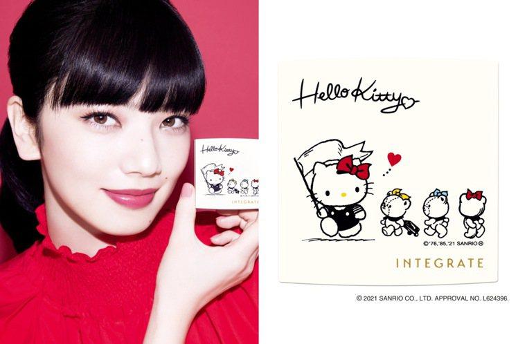 又有Hello Kitty聯名美妝。圖/INTEGRATE櫻特芮提供