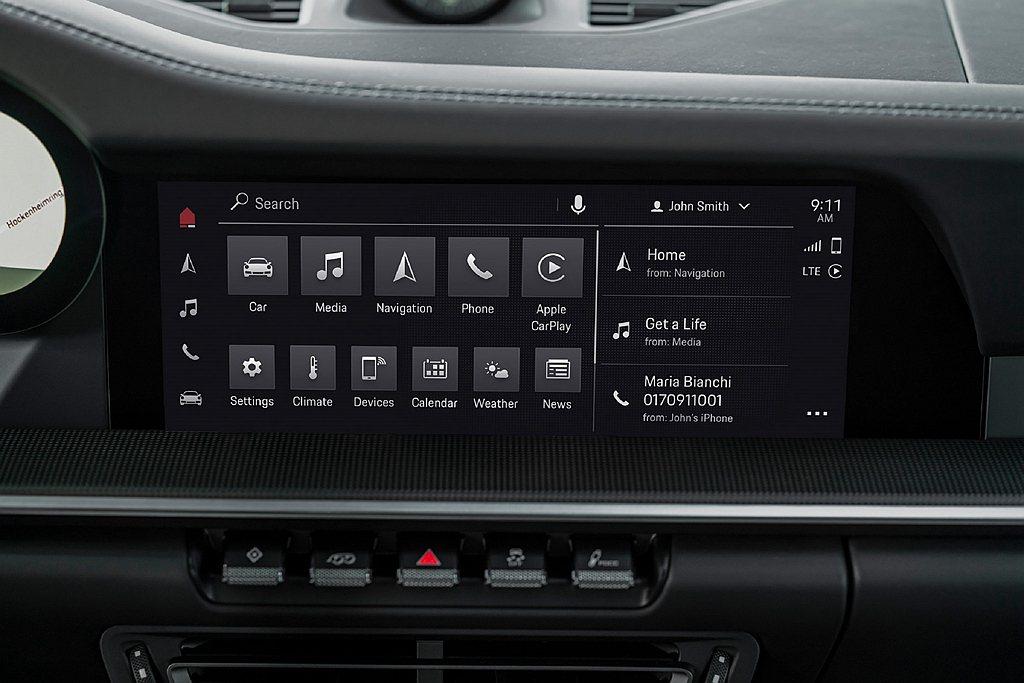 第六代保時捷通訊管理系統(PCM)將於今年夏季將正式搭載於911、Cayenne...