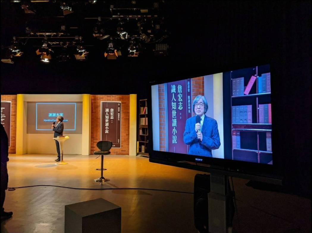防疫期間,中央書局「週三讀書會」改以錄影線上播放方式進行。圖/中央書局提供