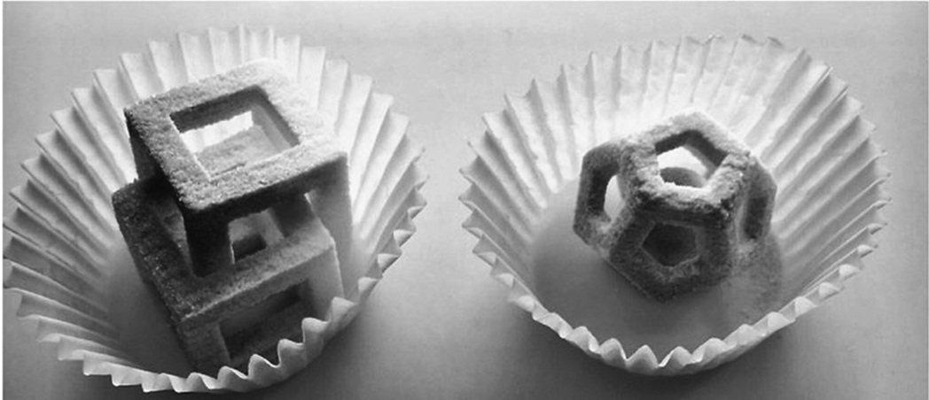 圖為3D列印製成的食物塊粒。 圖/© Food Innovation Labor...