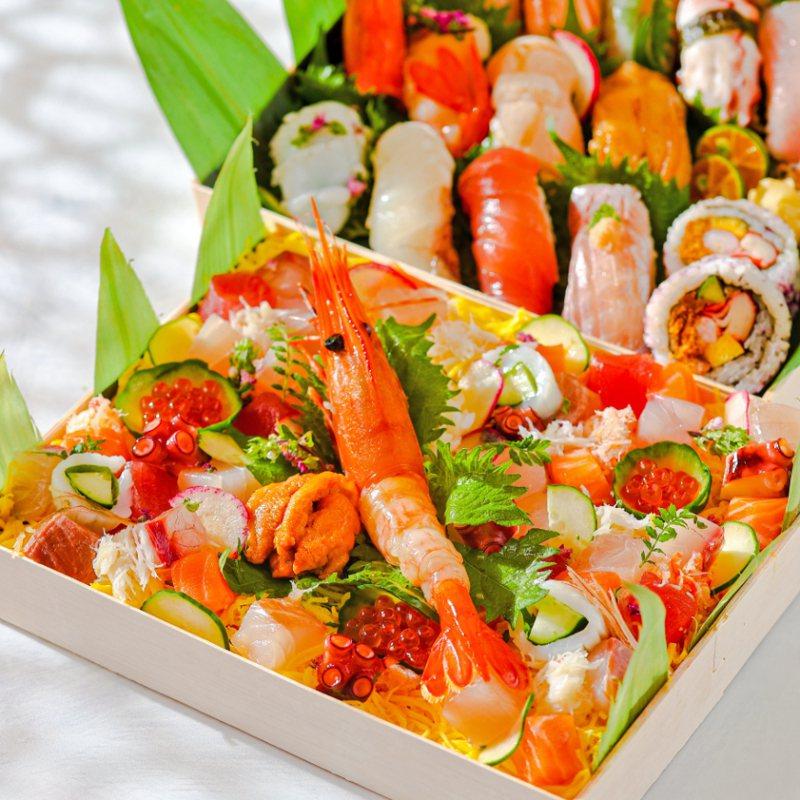 晶華酒店人氣美食「極特上雙饗盛合」。圖/台北晶華酒店提供