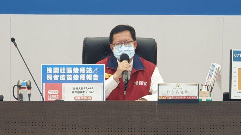 桃園市長鄭文燦表示,65歲以上長者想補打疫苗,未來仍能到合約醫療院所及衛生所接種。圖/桃園市政府提供