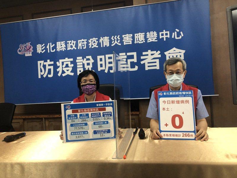 彰化5萬多人明開打AZ疫苗,縣府宣導「生日分流」避免群聚。記者林敬家/攝影