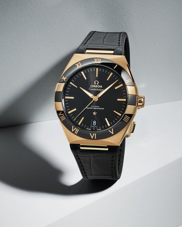 歐米茄星座系列41毫米18K黃金自動腕表,70萬元。圖/歐米茄提供
