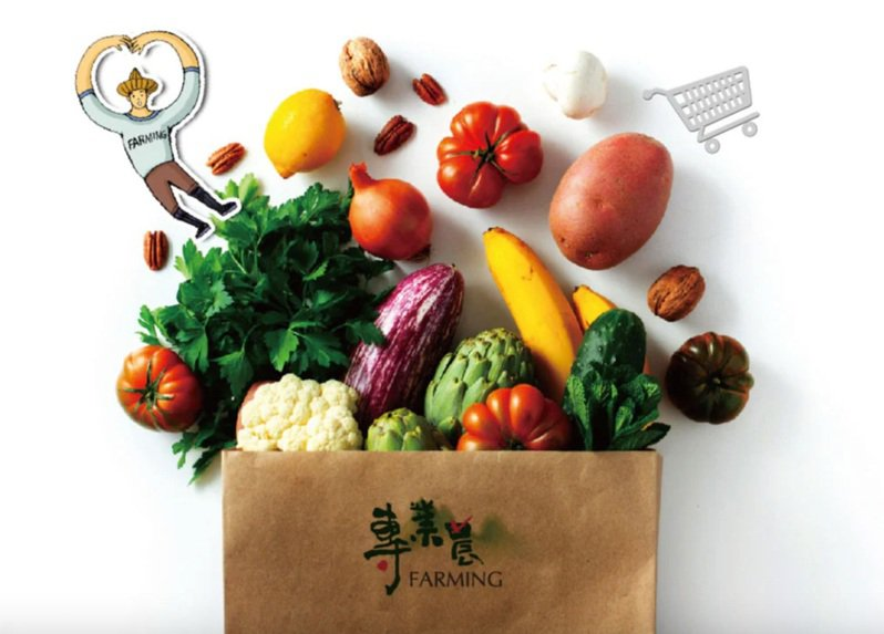 生活市集與在地小農品牌「專業農」將於7月16日開始販售「農產百寶箱」,搭配LINE TAXI免運速配至北北基,上午10點前訂購隔天就能送達。圖/生活市集提供