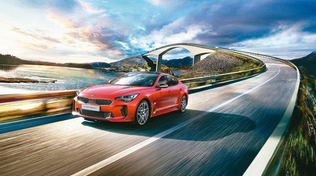 全新發表上市的New Stinger是KIA品牌旗艦轎跑。圖/台灣森那美起亞