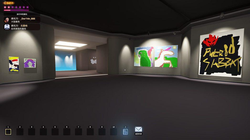 玩家所有賣出過的畫作都能在畫廊展示