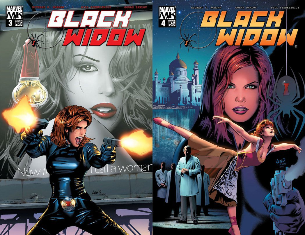 《Black Widow》書封,由格雷格・蘭德(Greg Land)繪製。 圖/Marvel