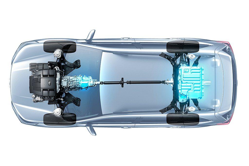 Subaru e-BOXER複合動力系統,透過電動馬達與變速系統的整合,不僅維持...