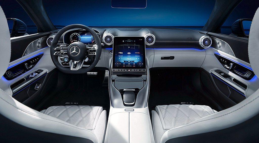 全新Mercedes-AMG SL座椅以運動風格作為設計主軸,透過獨特材質,讓座...