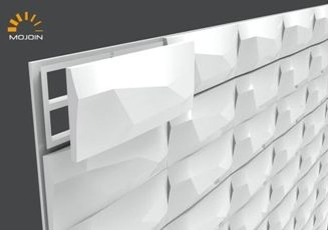 本年度開發的「循環模組化系統牆面」3D模型圖。 工業局/提供