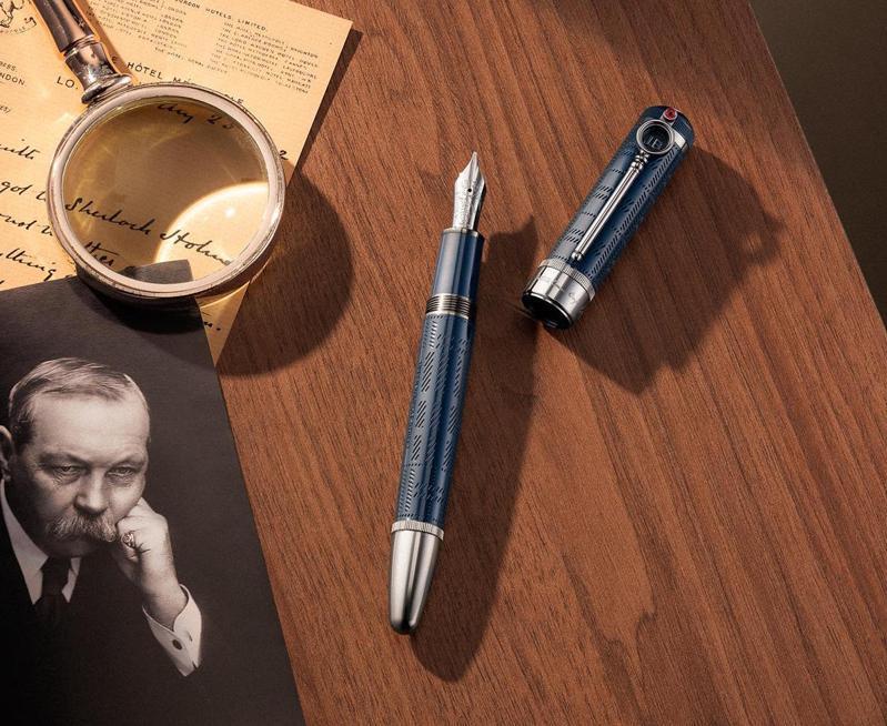 筆具名家萬寶龍(Montblanc)近日以英國文壇泰斗Sir Arthur Ignatius Conan Doyle為靈感,推出新款大文豪系列書寫工具。圖 / 萬寶龍提供。