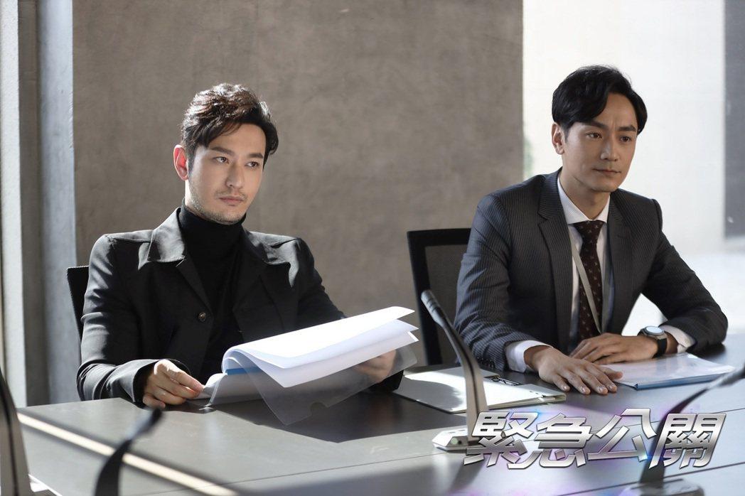 黃曉明(左)和林佑威首度合作。圖/東森超視提供