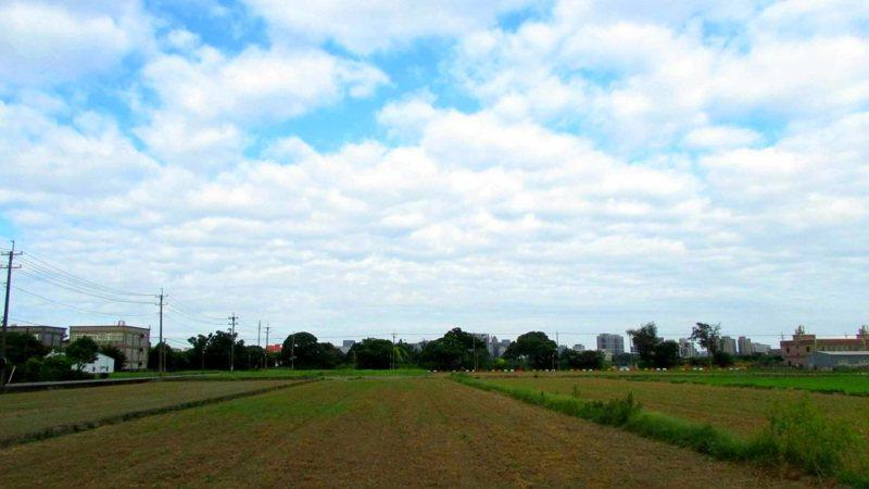 桃園二期稻整田插秧開始供灌,圖為青埔地區整理好的田準備引水入田。圖/讀者提供