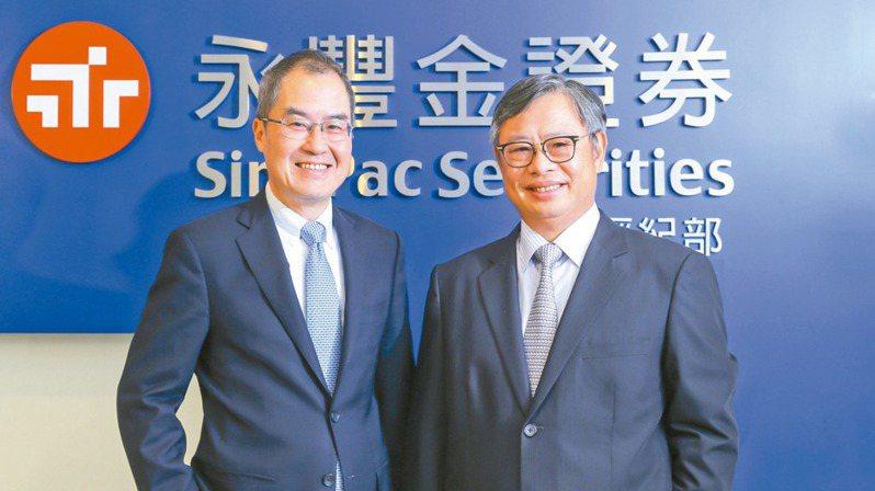 永豐金證券董事長朱士廷(右)及總經理江偉源。永豐金證券/提供