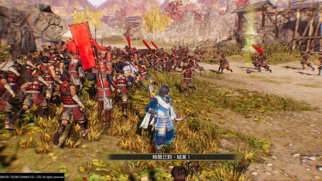 當一關堅城時限歸零後,敵兵大量潰逃的樣子相當好笑