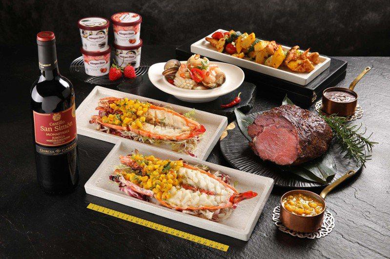 兩人份海陸巨無霸套餐組。圖/Mega 50提供