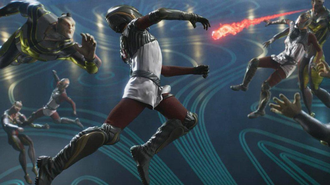 《宇宙特攻隊》人類與外星球隊對戰宇宙球,團結合作搶下分數。捷傑提供