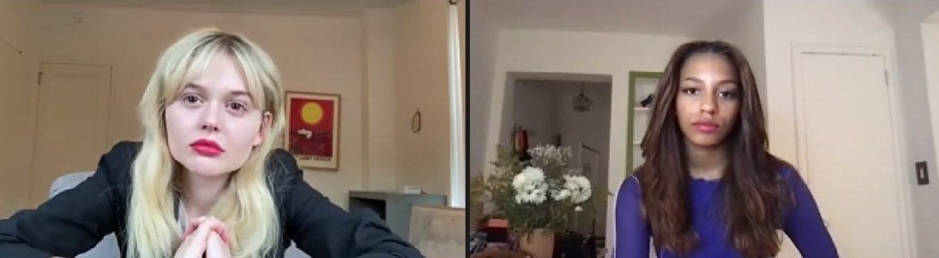 艾蜜莉雅琳林達(左)、薩凡娜李史密斯日前跨海接受本報視訊訪問。圖/HBO GO提...
