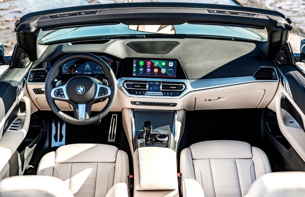 全新4系列Convertible敞篷跑車配備全新BMW全數位虛擬座艙(含12.3...