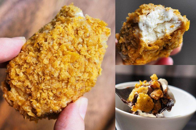 泰國近期推出一款擁有炸雞外表的冰品甜點,擬真程度百分百。圖/IG@spoonandwander授權