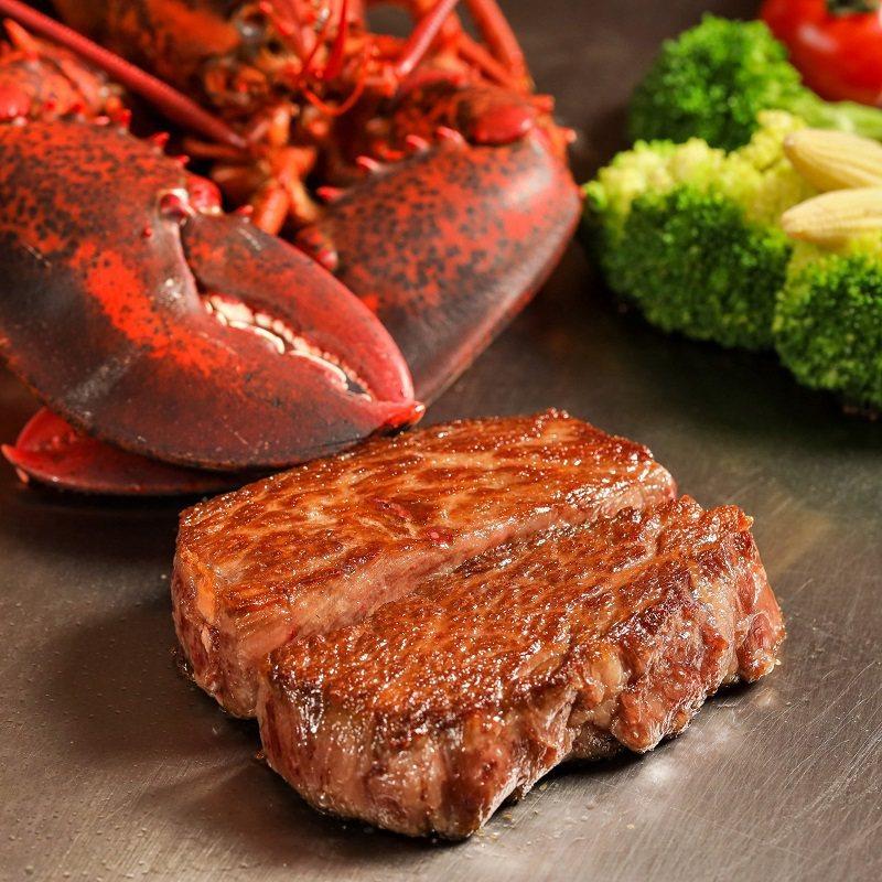 Robin's 鐵板燒A5和牛與龍蝦海陸分享餐。業者/提供