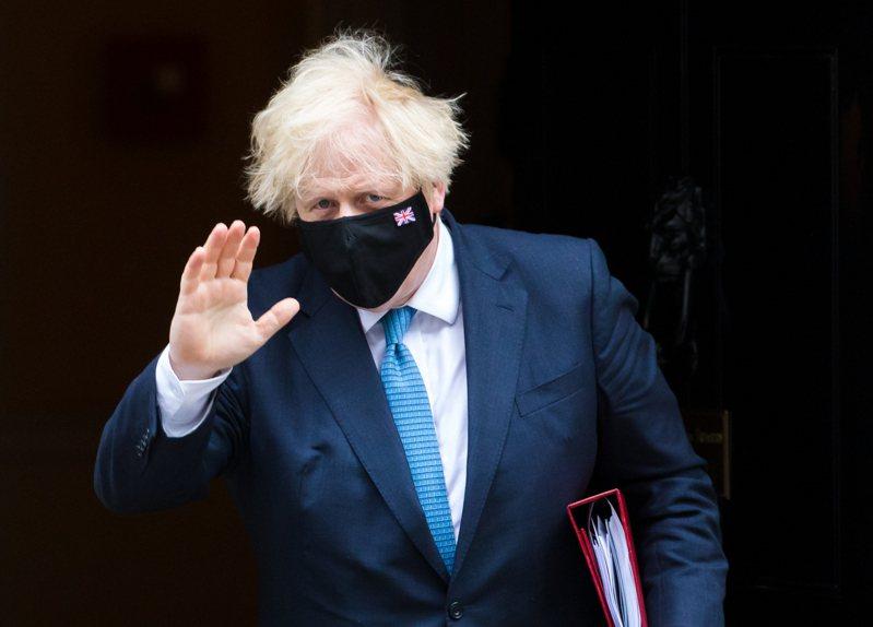 英國首相強生。 歐新社