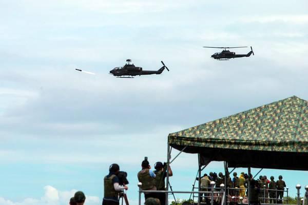 陸軍「神鷹操演」8月下旬啟動,長弓地獄火是否射擊受矚。圖/軍聞社