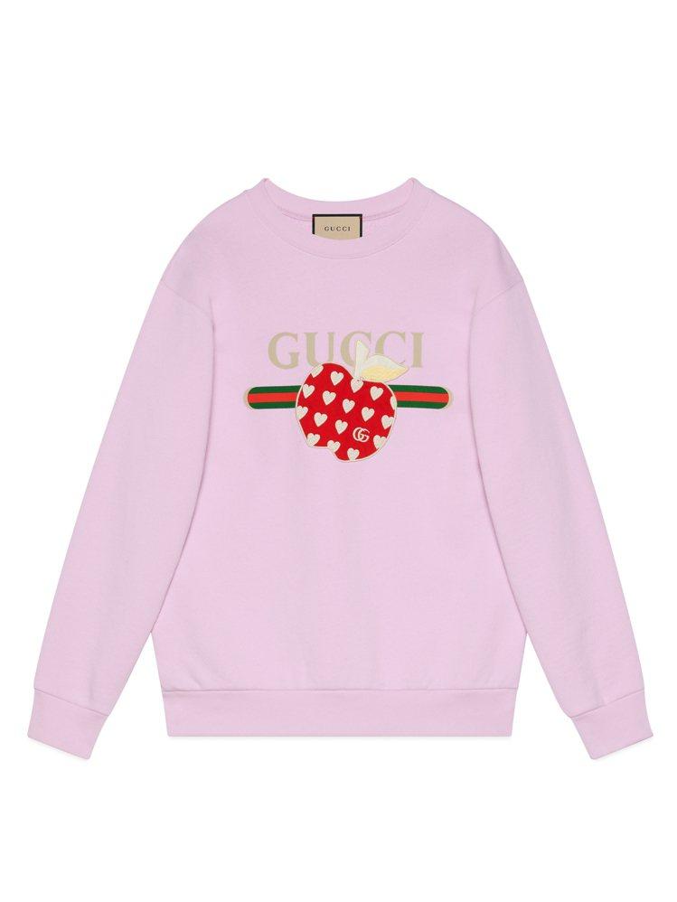 Les Pommes七夕情人節特別系列粉色衛衣,40,000元。圖/GUCCI提...