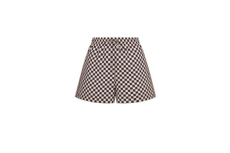 黑白棋盤格愛心印花短褲,34,000元。圖/DIOR提供