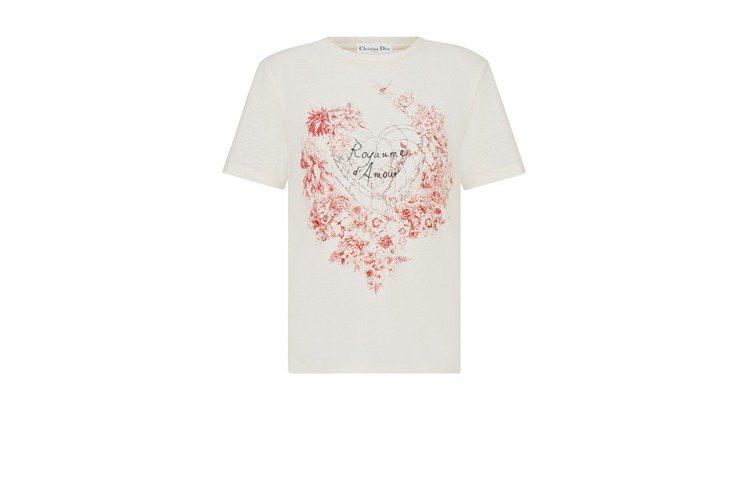 Dioramour印花白色T-Shirt,26,000元。圖/DIOR提供