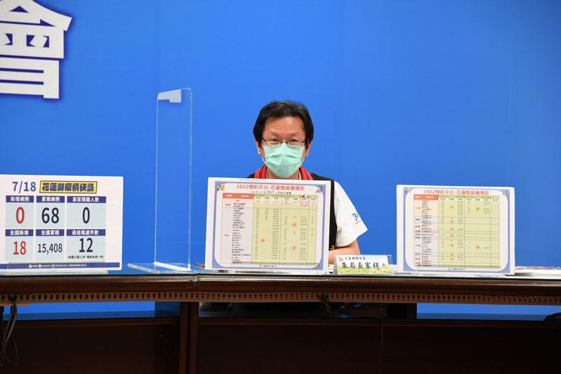 花蓮縣衛生局長朱家祥表示,「打在身上的疫苗,就是好疫苗,放在瓶子裡的疫苗,才是壞疫苗」,呼籲符合資格民眾趕快接種。圖/花蓮縣政府提供