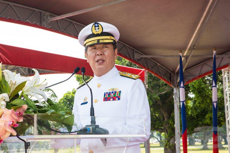 前參謀總長黃曙光日前屆退,接受本報專訪談潛艦國造。圖/軍聞社提供
