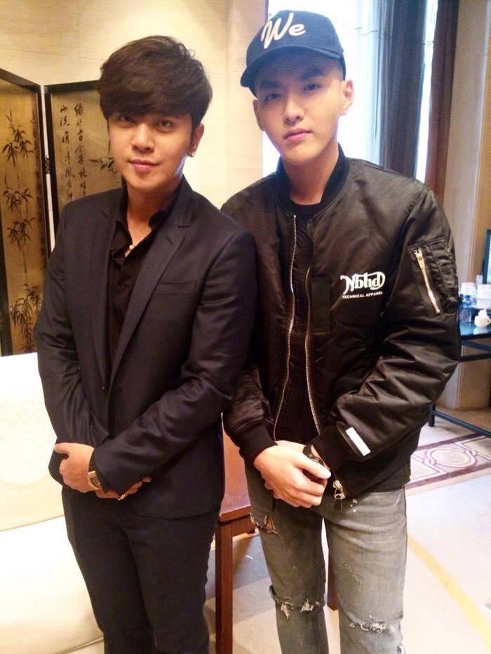 羅志祥與吳亦凡。 圖/擷自微博