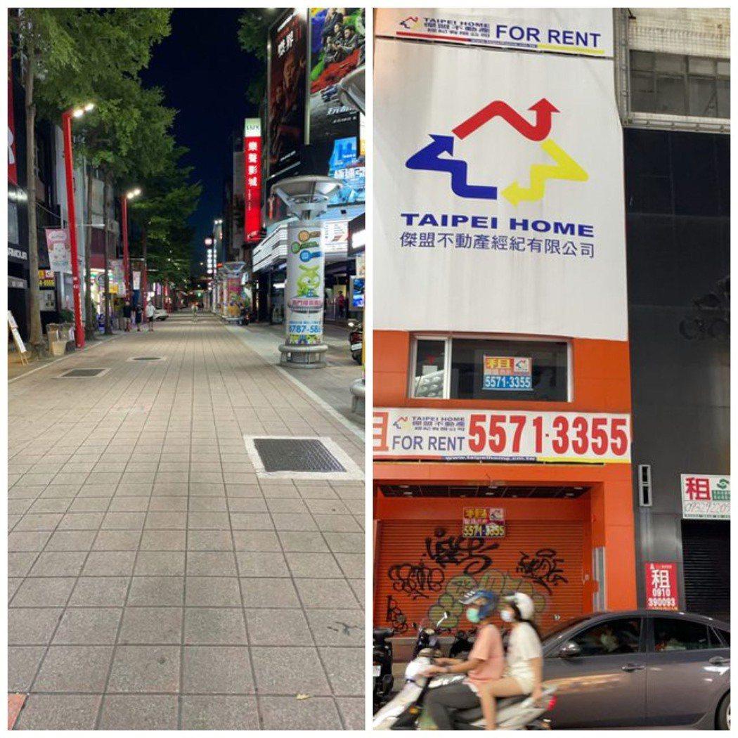 西門町現況超慘,許多店家紛紛關門,還有商家乾脆關門大吉。圖/取自PTT