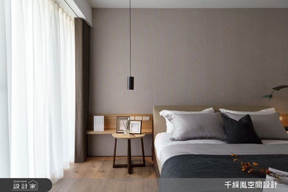 入睡時應盡量避免室內出現不必要的光線,也就是「越黑越好」。 圖/千綵胤空間設計