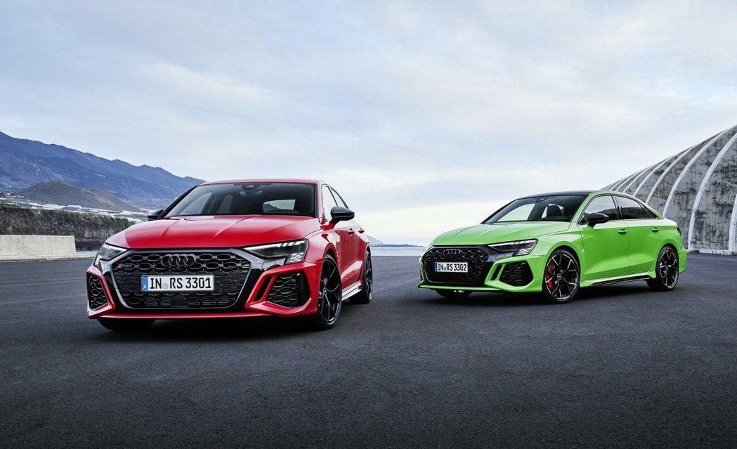 Audi RS 3 Sportback/Sedan。 摘自Audi