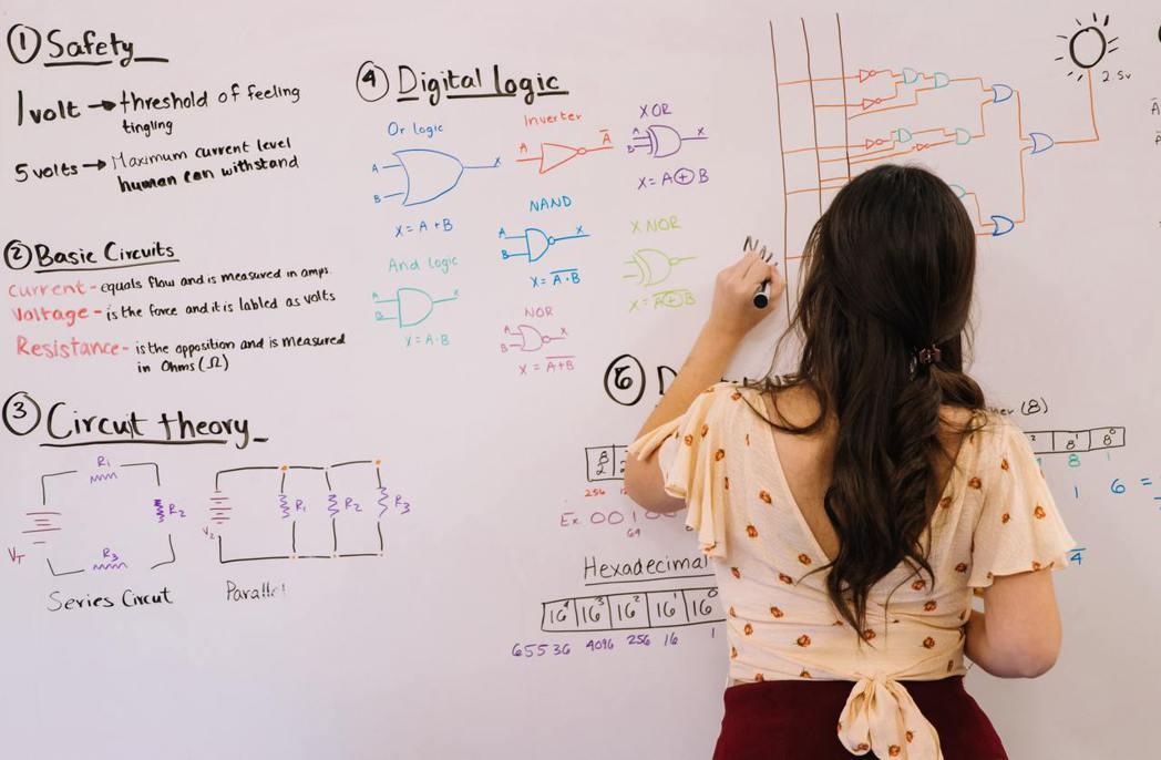 分組教學、女性的理科教師,都可以成為打破性別之牆的可能選擇。 圖/Pixabay