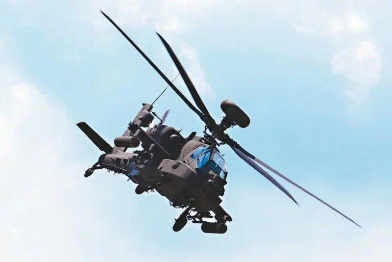陸軍AH-64E阿帕契攻擊直升機。圖/本報資料照