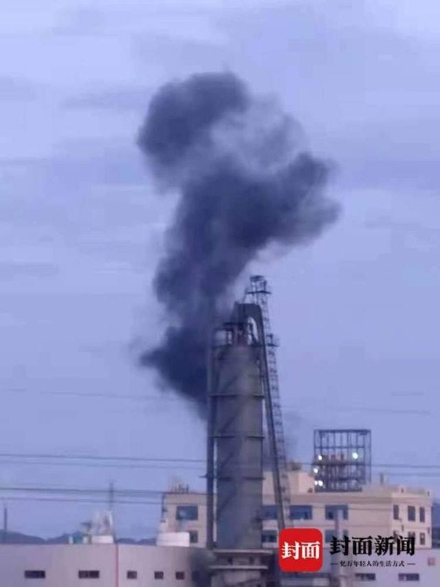 7月16日前後,九二工業基地內曾發生爆炸,有化工設施冒出黑煙。(大陸封面新聞)