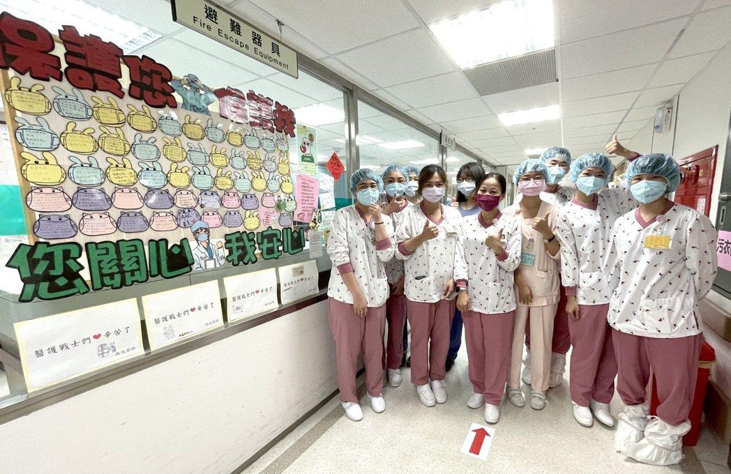 賈永婕夫婦贈奇美醫新冠急救防護設備,醫護感謝「雪中送碳」。圖/奇美醫學中心提供