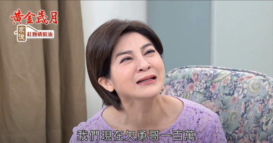 王彩樺在「黃金歲月」中哭戲爆棚,親情戲一下就淚崩。圖/民視提供