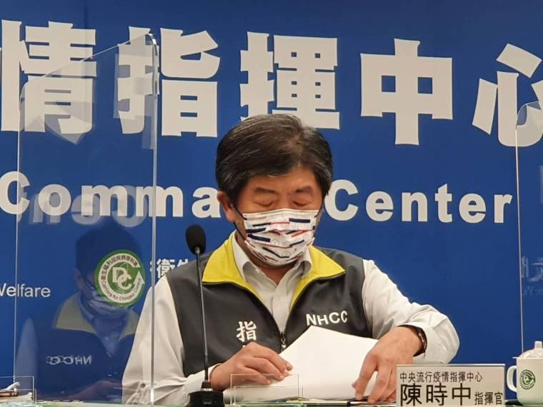 中央流行疫情指揮中心指揮官陳時中。 報系資料照