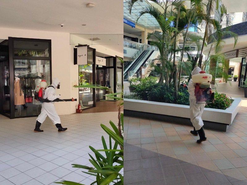 林口三井OUTLET出現專櫃人員確診染疫,除了停業進行大消毒外,也將召回3,200名員工進行快篩。圖/三井OUTLET提供