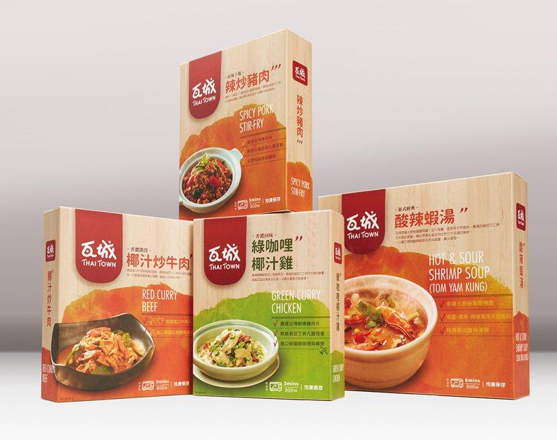 瓦城自即日起推出冷凍泰式料理包,並有買1送1、滿千8折等優惠。圖/瓦城提供
