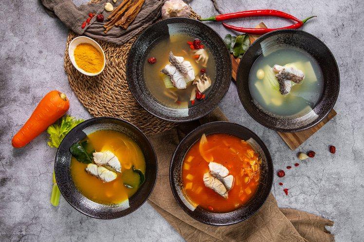 Hi-Q褐藻生活館x Hi-Q鱻食餐廳推出4款防疫養身魚湯,每份235元。圖/H...