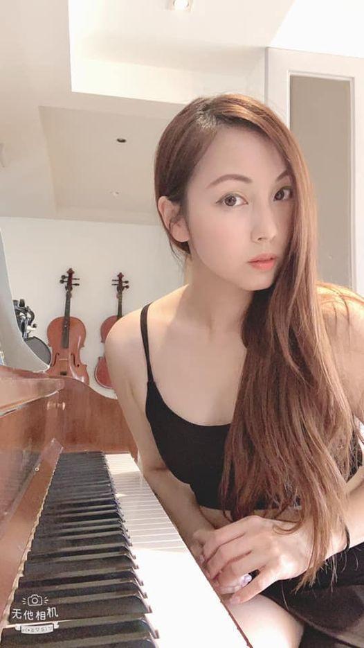 陳姿吟擅長多項樂器。圖/摘自臉書