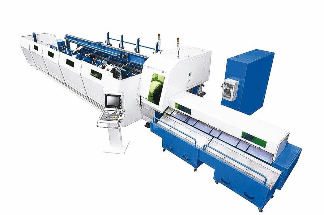 客戶運用和和雷射切管機, 突破金屬管類加工困境。和和機械公司/提供